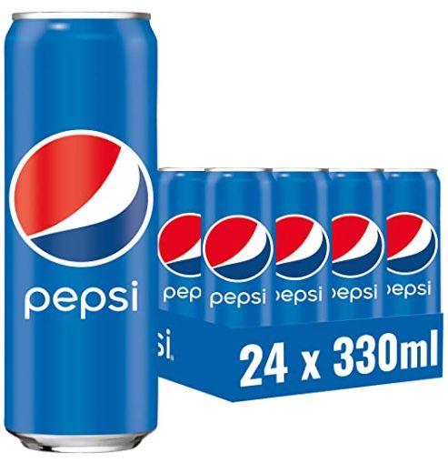 Amazon: 24er Packs Soft  & Energy Drinks Dosen im Angebot   z.B. 24x Pepsi für 10,38€