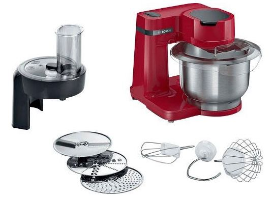 Bosch MUMS2ER01 Küchenmaschine 700W mit 3,8 L Edelstahl Rührschüssel für 99,90€(statt 124€)