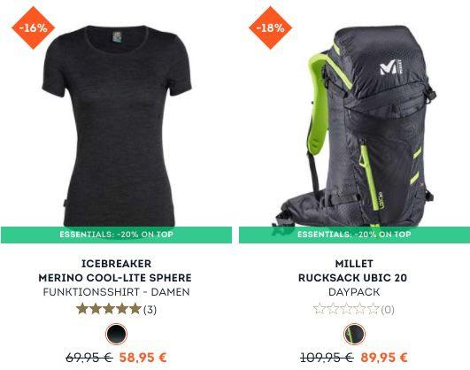 SportScheck: 20% Rabatt auf ausgewählte Hike & Bike Artikel   z.B. OCK Funktionsjacke für 38,36€ (statt 60€)