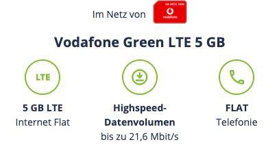 Letzte Chance! 🔥 Vodafone 5GB LTE inkl. Allnet Flat (!) für nur 4,99€ mtl.   VoLTE & WiFi Call fähig!