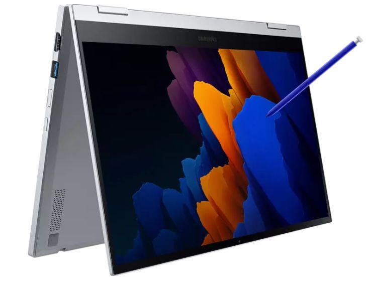 Samsung Galaxy Book Flex 2 mit 5G   13,3 Zoll FHD Convertible mit 512 GB SSD für 989€ (statt 1.699€)