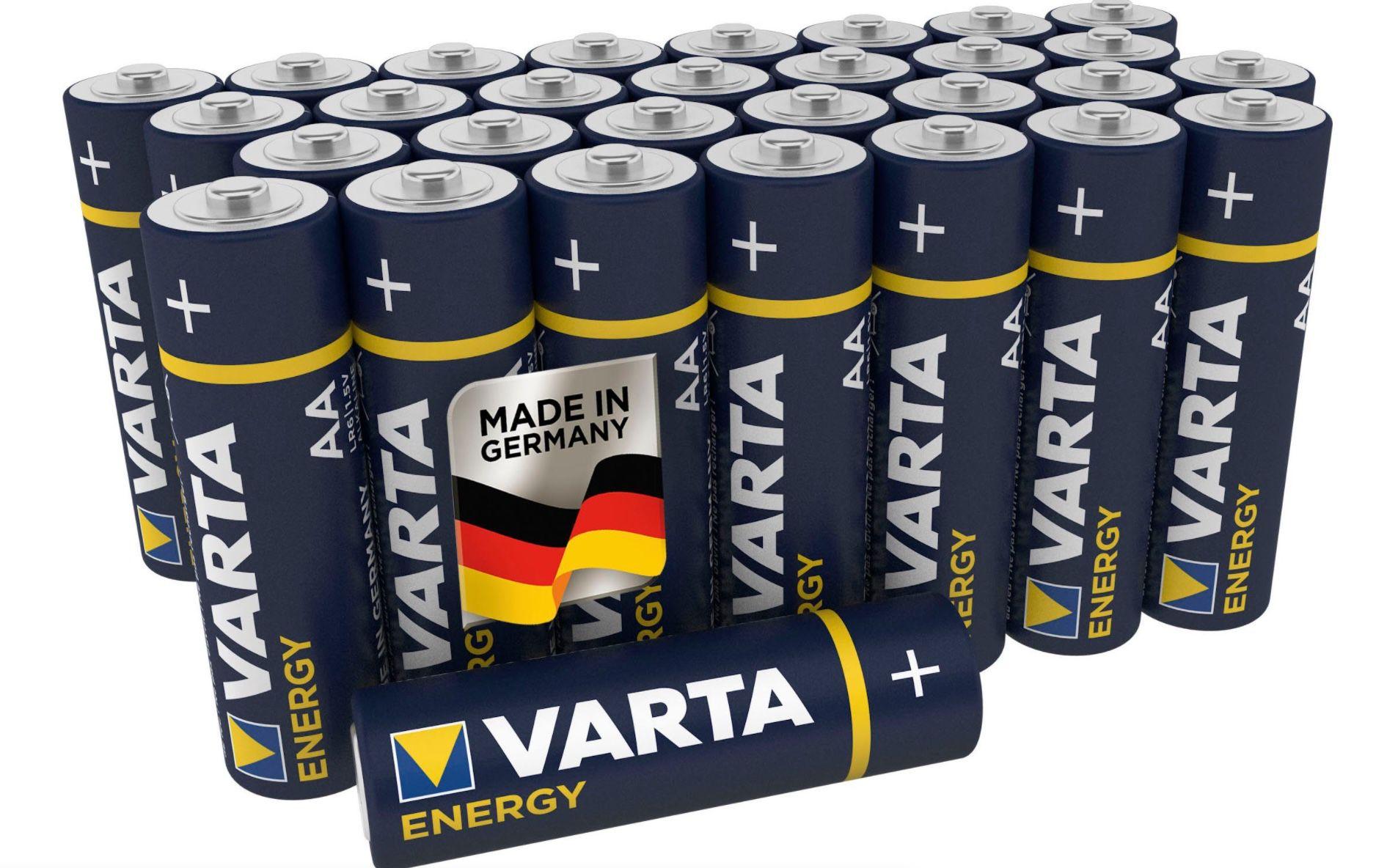 30er Pack VARTA Energy AA Mignon LR6 Alkaline Batterien ab 5,99€ (statt 9€)
