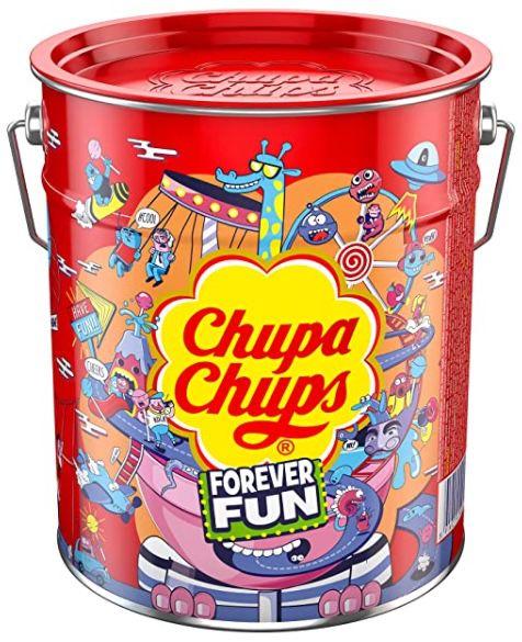 Chupa Chups Best of Lollipop Eimer mit 150 Lutscher in 6 Geschmacksrichtungen ab 14,24€ (statt 22€)
