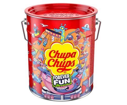 Chupa Chups Best of Lollipop-Eimer mit 150 Lutscher in 6 Geschmacksrichtungen ab 14,24€ (statt 22€)