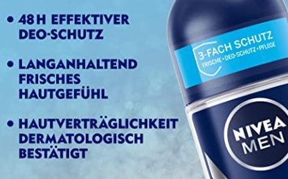 4x NIVEA MEN Deo Spray Fresh Active Deo ohne Aluminium für 4,55€ (statt 7€)   Prime Sparabo