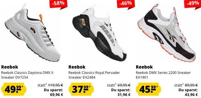 Reebok Mega Sale bei SportSpar + 5€ Gutschein   z.B. Reebok Classics Royal Pervader für 37,99€ (statt 58€)
