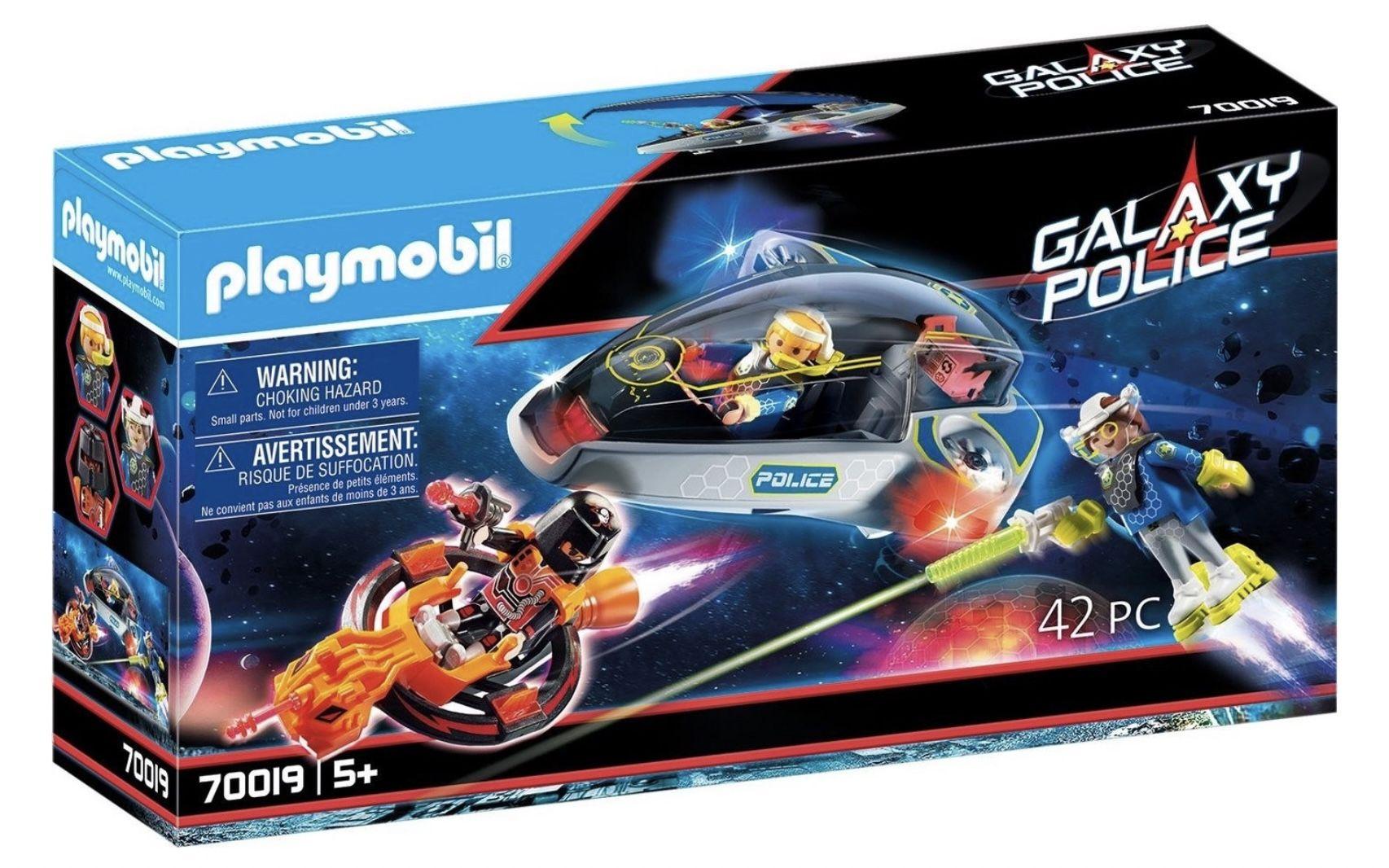 PLAYMOBIL 70019 Galaxy Police Police Glider mit Lichteffekten für 13€ (statt 17€)   Prime