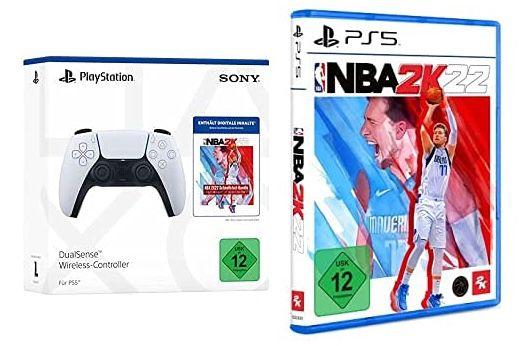 PlayStation 5 DualSense Wireless Controller + NBA 2K22 + Jumpstart für 99,99€ (statt 123€)