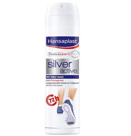 5x Hansaplast Silver Active Fußspray Antitranspirant mit 72h Schutz für 10€ (statt 14€)   Prime Sparabo