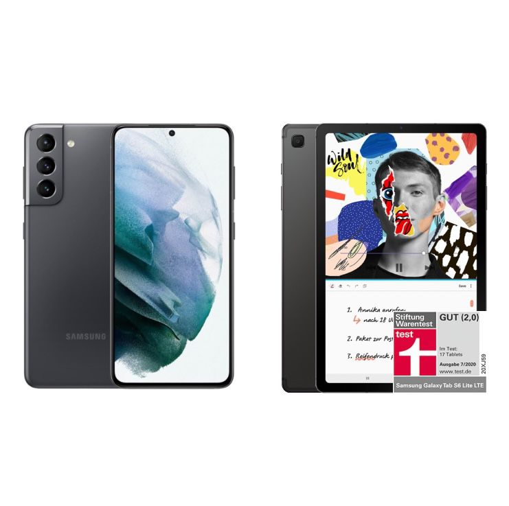 Samsung Galaxy S21 5G + Galaxy Tab S6 Lite WiFi für 149€+ Vodafone Allnet-Flat mit 30GB LTE/5G für 37,99€ mtl.