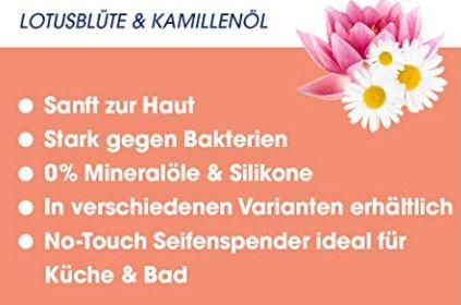 5x Sagrotan No Touch Nachfüller Extra Care Lotusblüte und Kamillenöl für 9,19€ (statt 13€)   Prime Sparabo