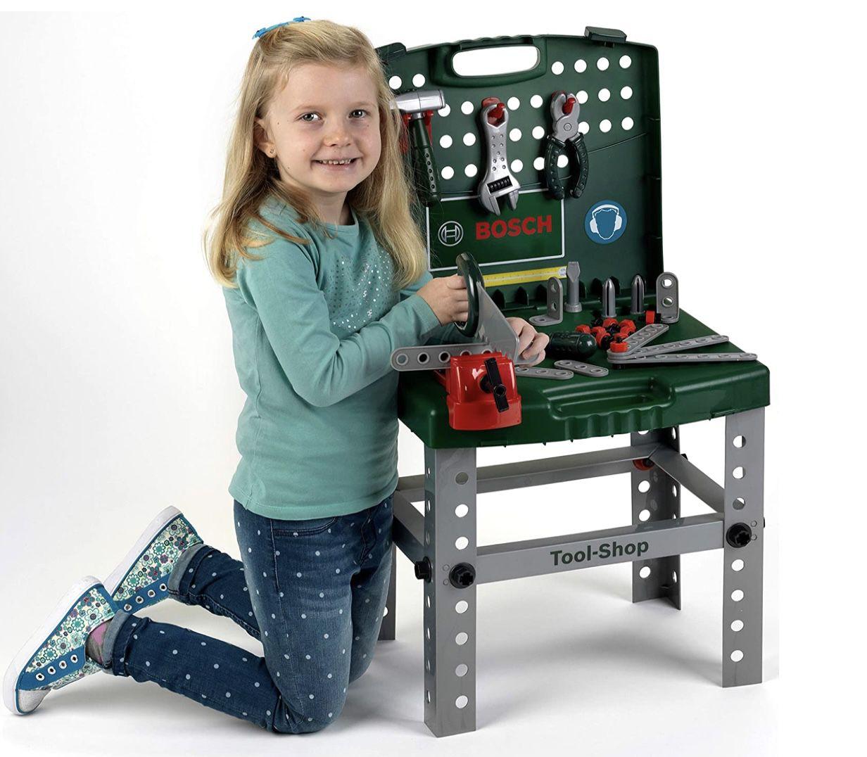 klein toys 8681 Bosch Werkbank klappbar für 30,09€ (statt 40€)