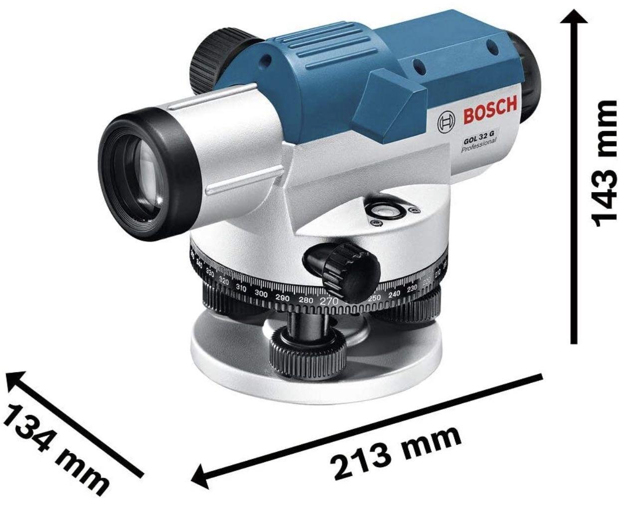 Bosch Professional GOL 32 G Optisches Nivelliergerät mit bis zu 120m Arbeitsbereich inkl. Koffer für 137,99€ (statt 164€)