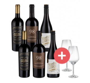 6er Pack Rotwein Favoriten + 2 Schott Zwiesel Taste Gläser für 39,95€ oder 2x für 69,90€