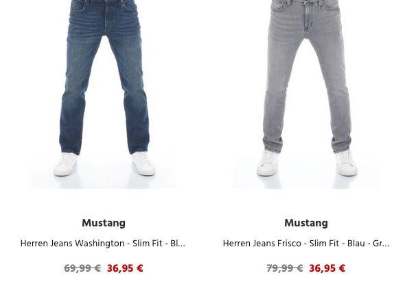 2x Mustang Slim Fit Jeans ab 63,98€(statt 88€)