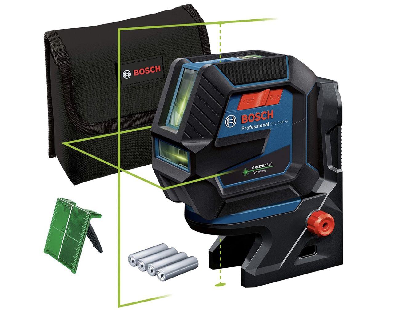 Bosch Professional Linienlaser GCL 2-50 G inkl. Halterung RM 10 u. 4x AA-Batterie für 147,99€ (statt 175€)