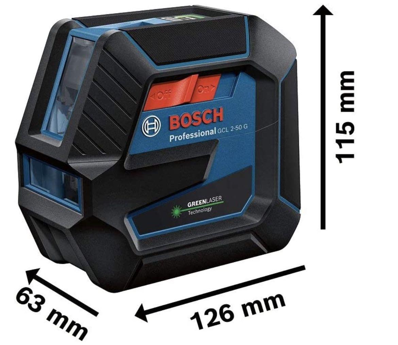Bosch Professional Linienlaser GCL 2 50 G inkl. Halterung RM 10 u. 4x AA Batterie für 149,49€ (statt 183€)