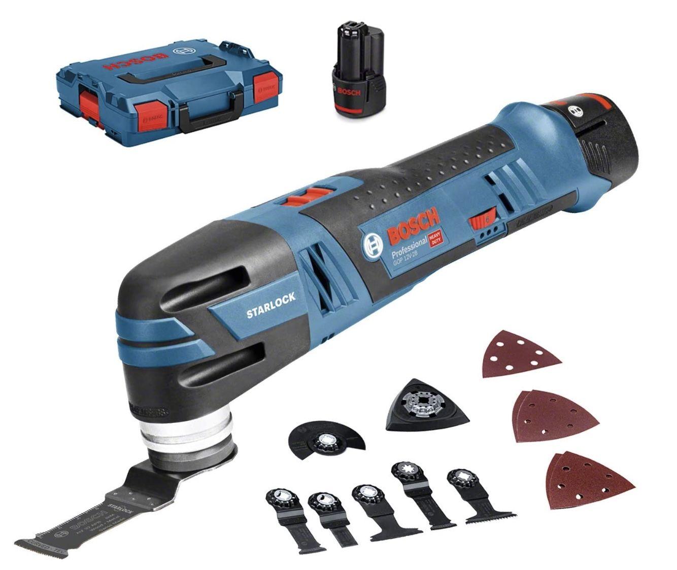 Bosch Professional GOP 12V-28 Akku Multi-Cutter inkl. 3,0x Ah Akku, L-BOXX 136 + Schnellladegerät für 181,80€ (statt 224€)