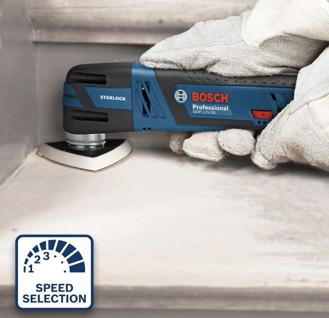 Bosch Professional GOP 12V 28 Akku Multi Cutter inkl. 3,0x Ah Akku, L BOXX 136 + Schnellladegerät für 181,80€ (statt 224€)
