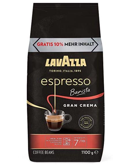 1,1kg Luigi Lavazza Espresso Barista Gran Crema Kaffeebohnen für 11,99€(statt 17€)