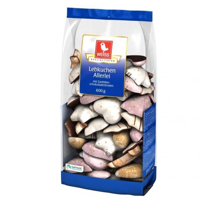 Weiss Lebkuchen Allerlei (600g) für 1,89€ (statt 3€) – Prime