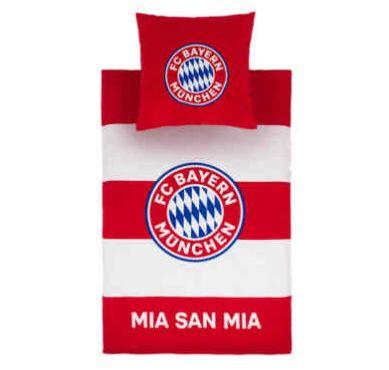 FC Bayern München Bettwäsche Biber 135 x 200 cm (Kissen: 80 x 80 cm) für 29,46€ (statt 36€)