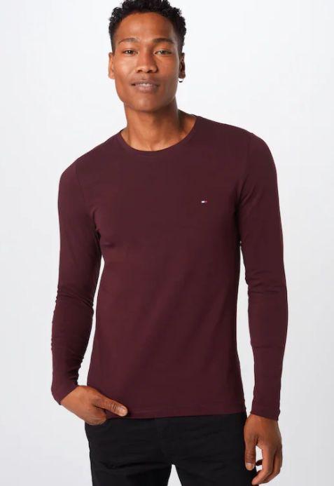 Tommy Hilfiger Herren Langarmshirt Stretch Slim Fit ab 32,90€ (statt 50€)