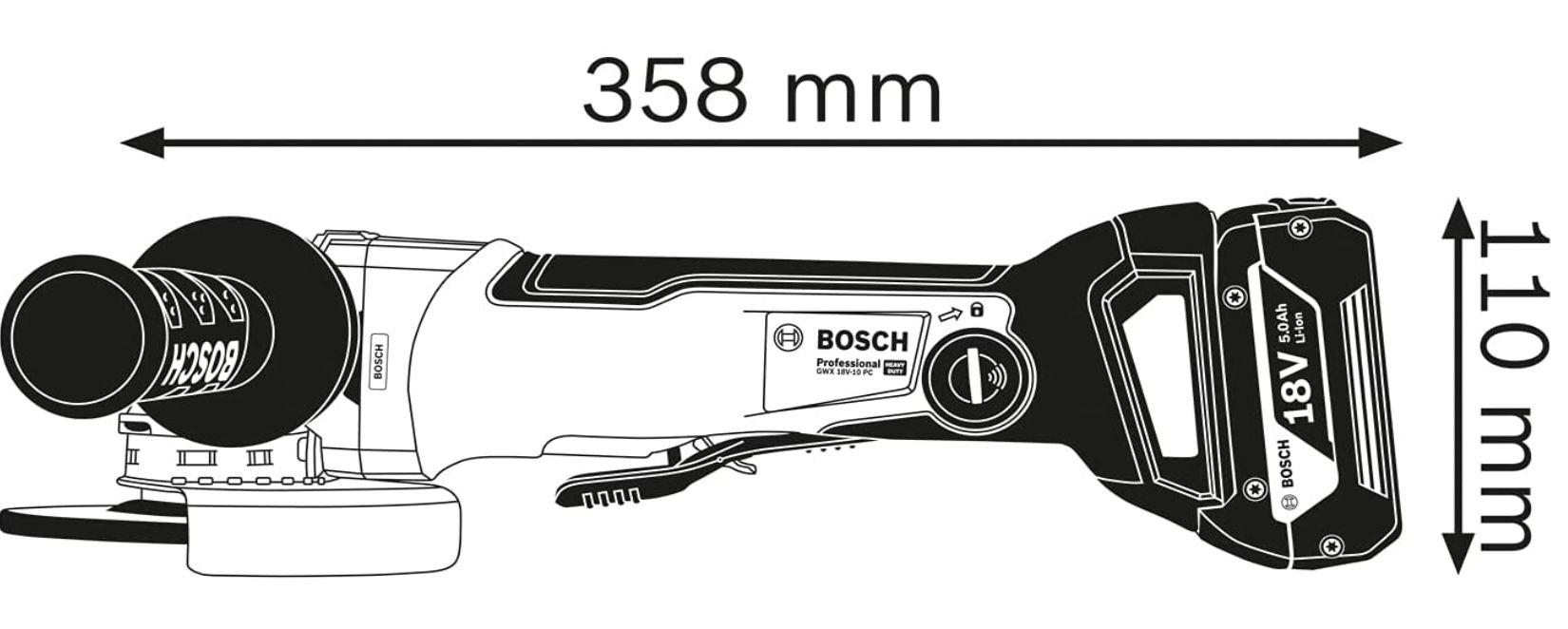 Bosch Professional GWX 18V 10 PC Akku Winkelschleifer für 149€ (statt 179€)