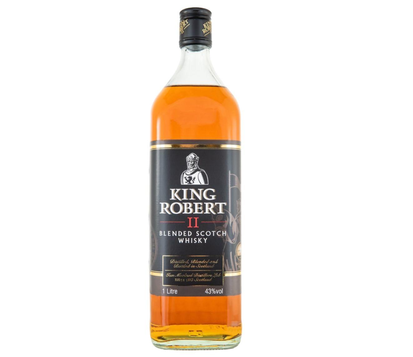 3x King Robert II Blended Scotch Whisky (je 1 Liter, 43% Vol.) für 34,50€(statt 46€)