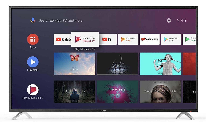 Sharp 4T C65BL2EF2AB   65 Zoll UHD Fernseher mit AndroidTV für 513,90€ (statt 755€)