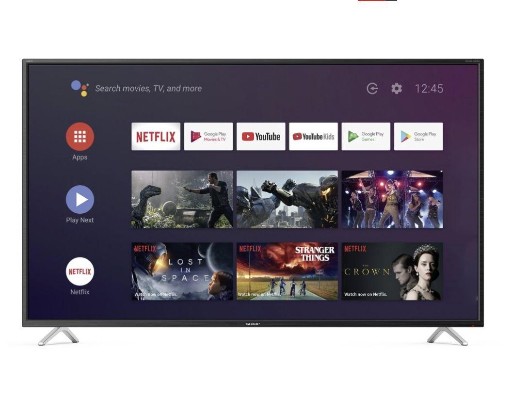Sharp 4T-C65BL2EF2AB – 65 Zoll UHD Fernseher mit AndroidTV für 499€ (statt 755€)