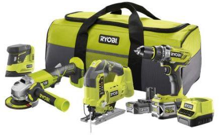 Ryobi Combo Kit R18CK4F 252S inkl. Werkzeugtasche und 55 teiligem Bit Set für 269,99€ (statt 441€) + 40€ Gutschein geschenkt