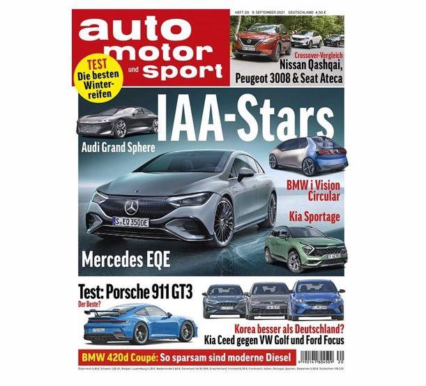 Jahresabo Auto Motor und Sport mit 27 Ausgaben für 127,30€ + Prämie: bis 120€ Gutschein