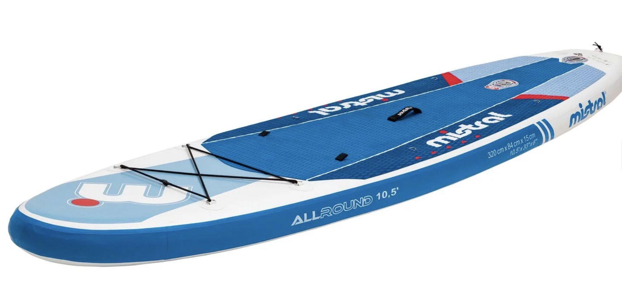 mistral SUP Board mit Doppelkammer + 3 Finnen System für 226,95€ (statt 333€)