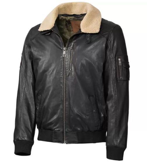 Top Gun Piloten-Lederjacke aus butterweichem Lammnappaleder für 184,35€ (statt 260€)