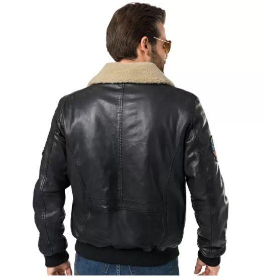 Top Gun Piloten Lederjacke aus butterweichem Lammnappaleder für 184,35€ (statt 260€)
