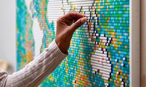 LEGO Art Weltkarte (31203) mit über 11.600 Teilen für 199,99€(statt 245€)
