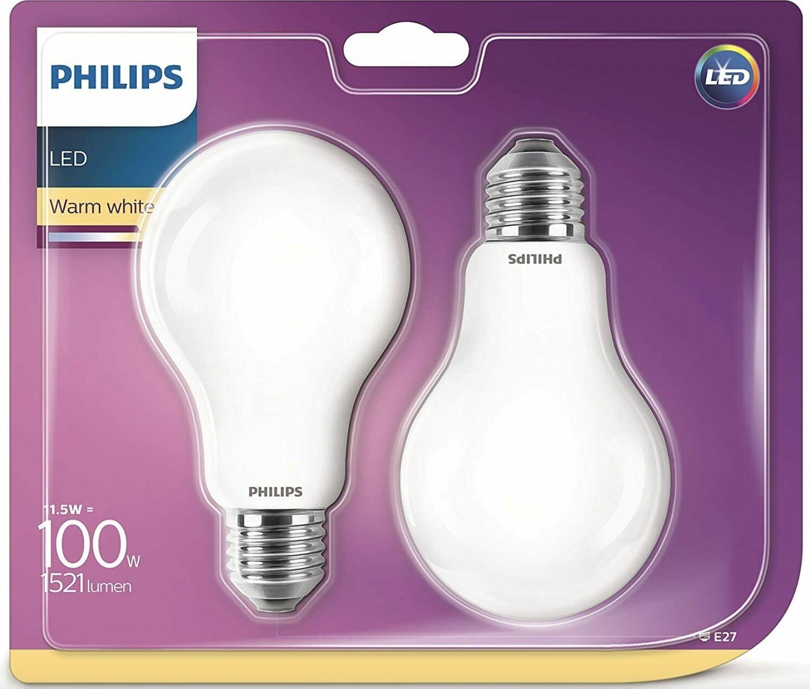 4er Pack Philips E27 Leuchtmittel mit 13W = 100W für 11,98€ (statt 25€)