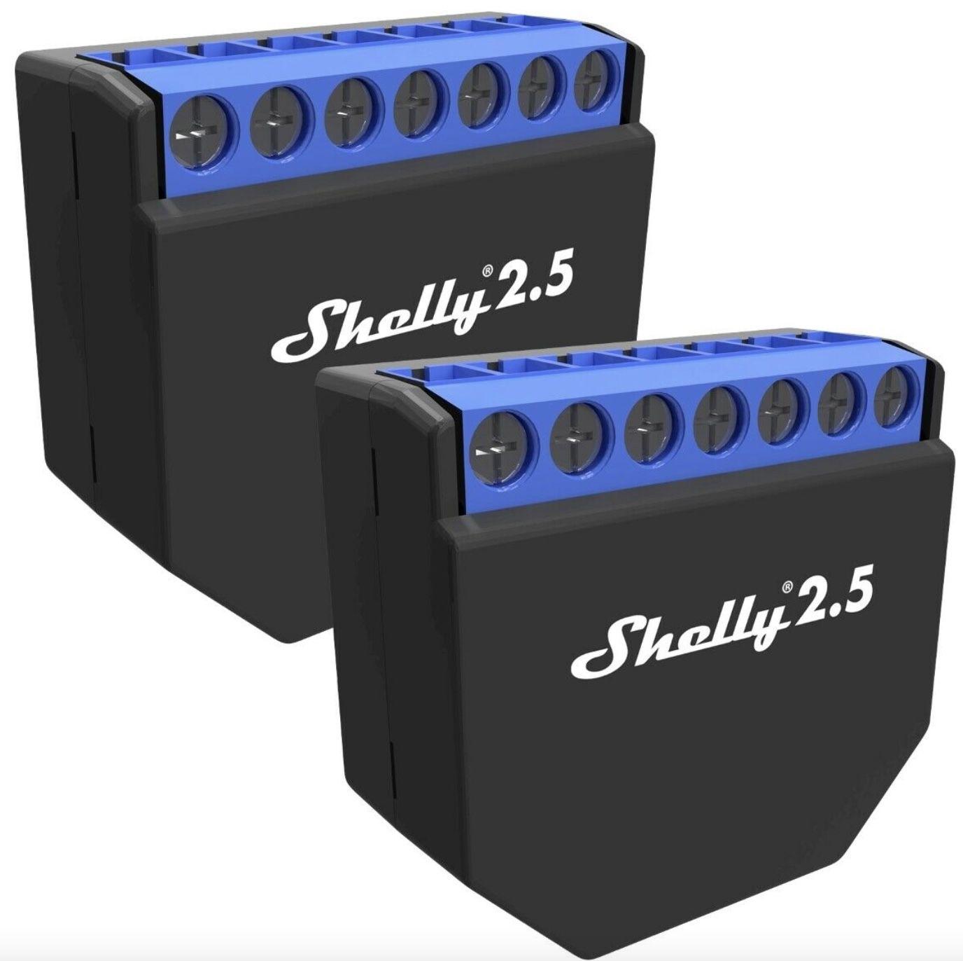 2er-Set Shelly 2.5 WiFi-Switch mit Messfunktion für 34,99€ (statt 43€)