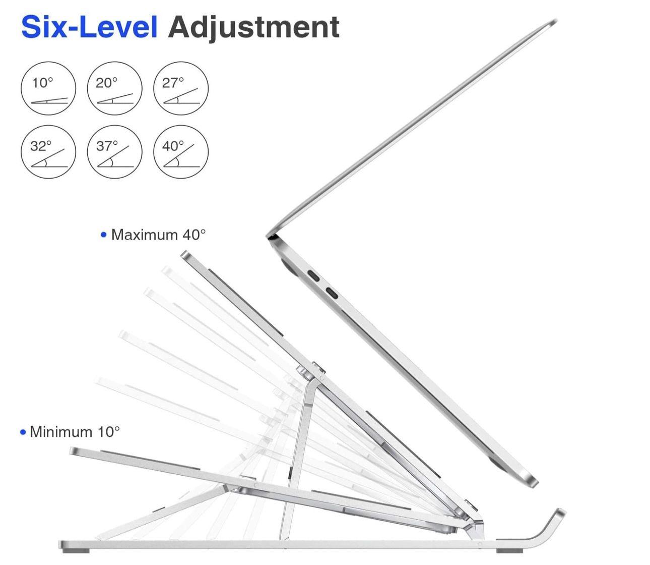 OMOTON Laptop Ständer für 10 15,6 Laptops mit 6 stufiger Verstellfunktion für 9,99€ (statt 20€)