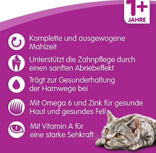 7kg Whiskas Katzen Trockenfutter Adult 1+ mit Huhn ab 10,64€ (statt 17€)   Prime Sparabo
