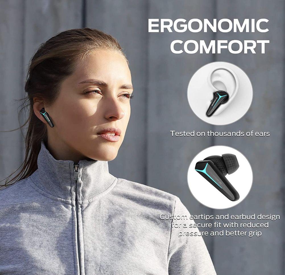 Mission V1 Bluetooth Kopfhörer mit 25 std. Wiedergabezeit und 4 Mikrofonen für 34,99€ (statt 70€)