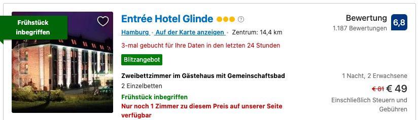 Booking.com Reise Blitzangebote mit 30% Ersparnis   z.B. Hamburg inkl. Frühstück ab 24,50€p.P.