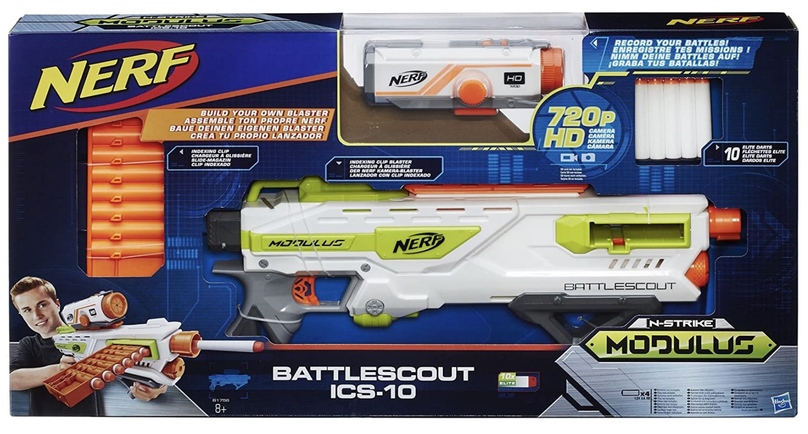 Nerf N Strike Elite   Modulus Battlescout ICS 10 Spielzeugblaster für 21,98€ (statt 34€)