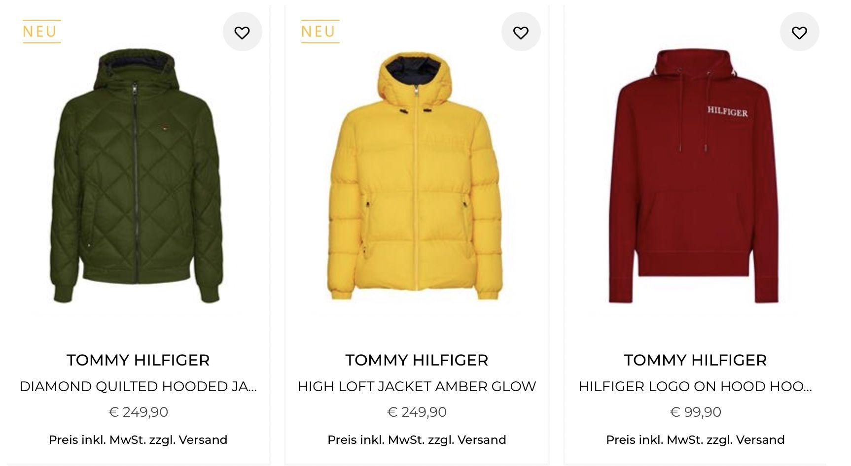 20% Extra Rabatt auf Tommy Hilfiger z.B. Diamond Quilted Hooded Jacket für 199,92€ (statt 250€)