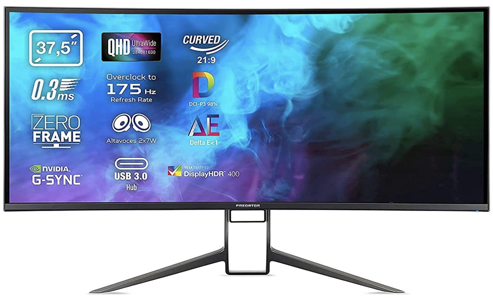Acer Predator X38P Gaming Monitor mit 37,5 Zoll für 971,05€ (statt 1.557€)