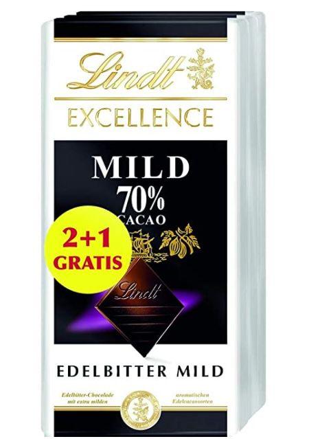 15x Lindt Excellence Edelbitter Mild 70% (je 100 g) für 18,32€ (statt 27€)   Prime