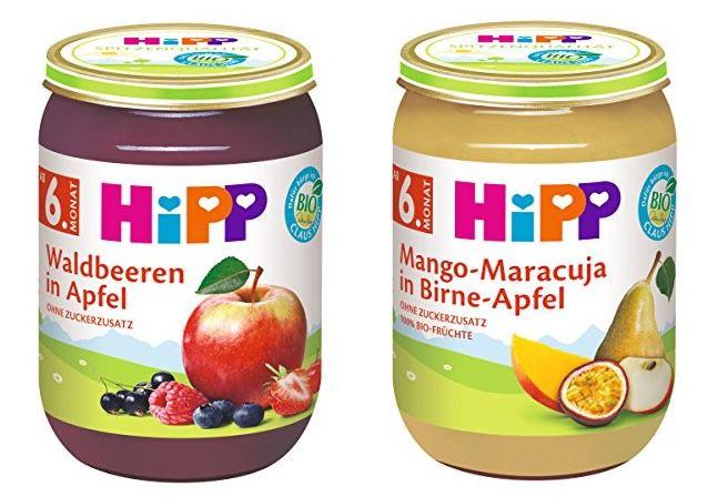 30x HiPP Früchte Erdbeere mit Himbeere in Apfel für 19,67€ (statt 36€)   auch andere Sorten