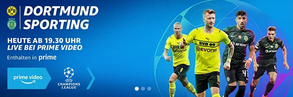 GRATIS für Primer: heute Abend Borussia Dortmund vs. Sporting Lissabon