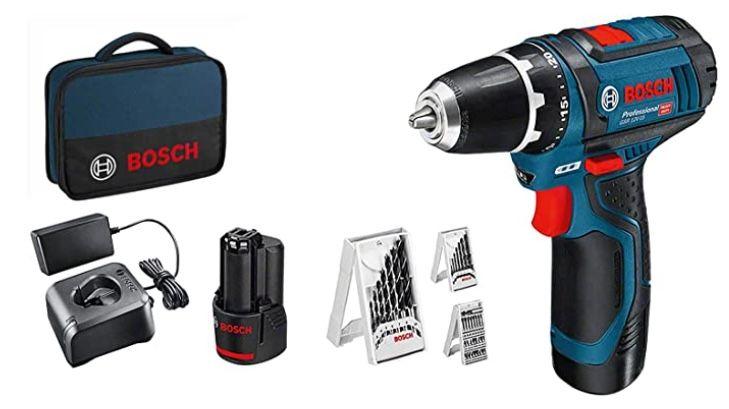 Bosch GSR 12V 15 2 LI Professional Akkuschrauber mit 2 x 2,0 Ah für 103,93€(statt 120€)